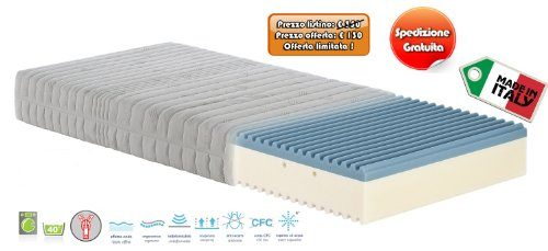 Materasso-Singolo-Memory-Foam-Onda-misura-80x190-H21-cm-rivestimento-sfoderabile-0